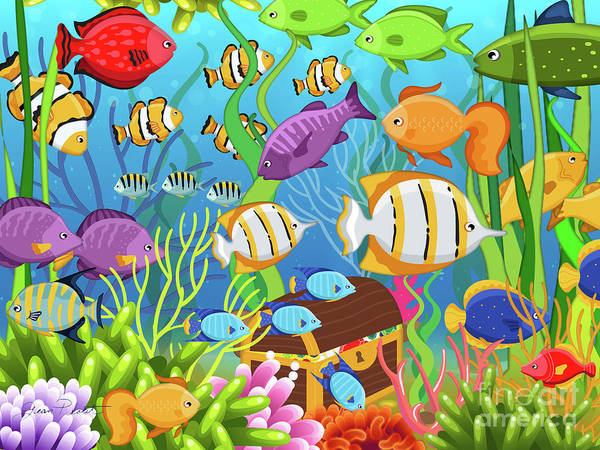Seaweed Digital Art - Colorful Sea Life-a by Jean Plout