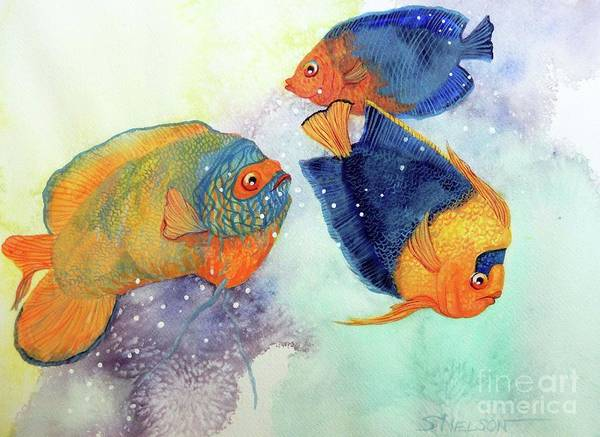 Wall Art - Painting - Colorful Seas by Sharon Nelson-Bianco