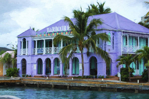 Palm Frond Digital Art - Colorful Shopping Experience On Tortola British Virgin Islands Bvi by Georgia Mizuleva