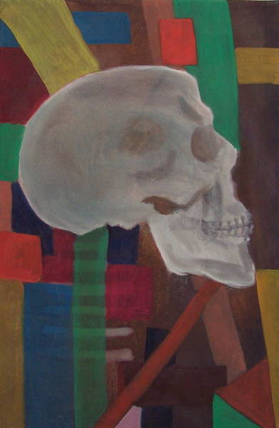 Avi Painting - Colorful Skeleton by Avi Lehrer
