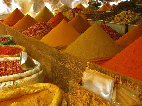 Wall Art - Photograph - Colorful Spices On Sale by Bashir Osman's Photography