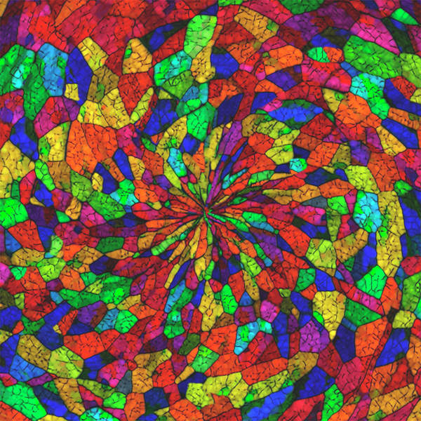 Spin Painting - Colorful Spin by Jack Zulli