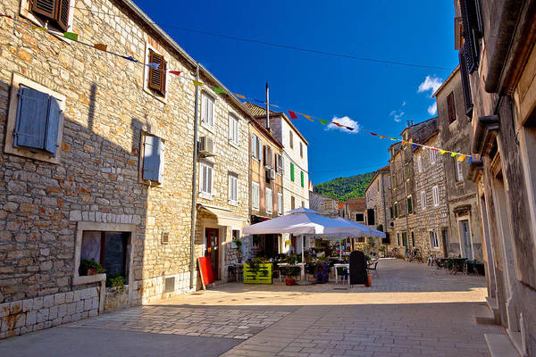 Starigrad Photograph - Colorful Stone Streets Of Stari Grad by Brch Photography