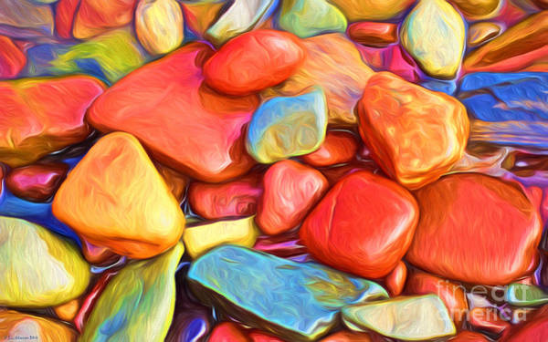 Wall Art - Painting - Colorful Stones by Veikko Suikkanen
