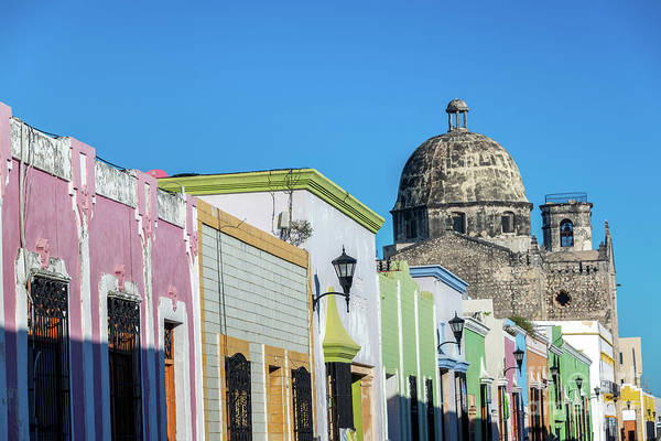 Wall Art - Photograph - Colorful Street And Church by Jess Kraft