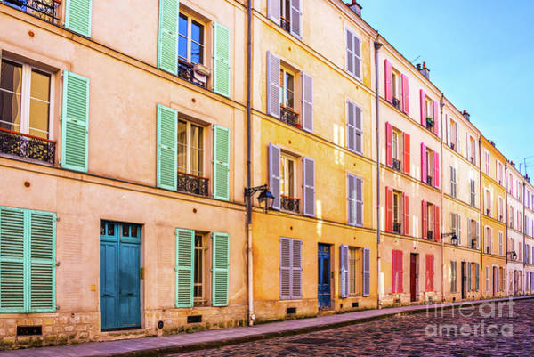 Wall Art - Photograph - Colorful Street In Paris by Delphimages Photo Creations