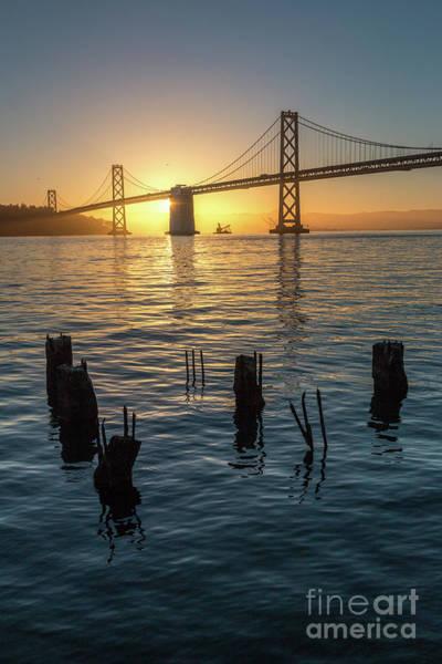 Photograph - Colorful Sunrise Over The Bay Bridge by PorqueNo Studios