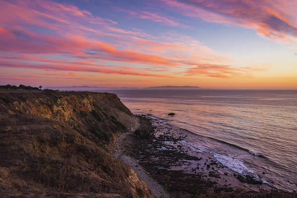 Colorful Sunset At Golden Cove Art Print