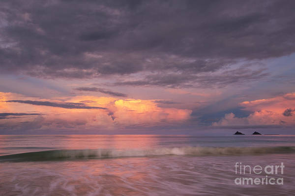 Photograph - Colorful Sunset At Kailua Beach by Charmian Vistaunet
