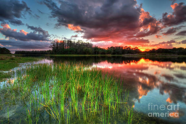 Wall Art - Photograph - Colorful Sunset Clouds by Rick Mann