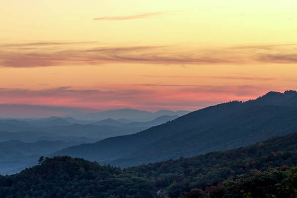 Photograph - Colorful Sunset In The Great Smoky Mountains by Teri Virbickis