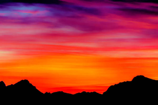 Photograph - Colorful Sunset by Wolfgang Stocker