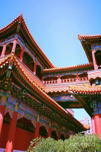 Pinyin Photograph - Colorful Temple Walkway by Carol Groenen