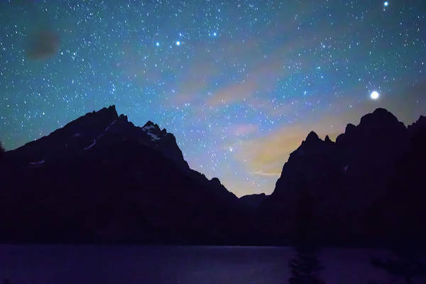 Photograph - Colorful Teton Night  by James BO Insogna