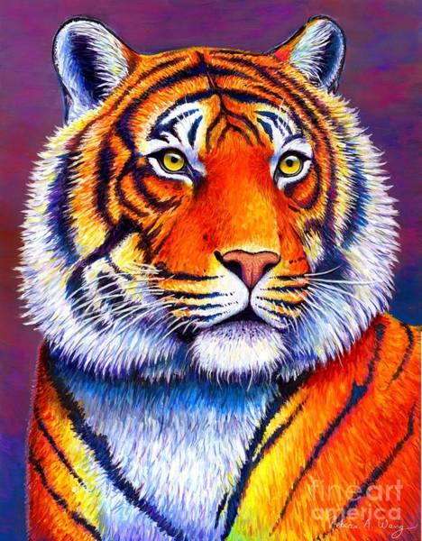 Bengal Tiger Painting - Colorful Tiger by Rebecca Wang