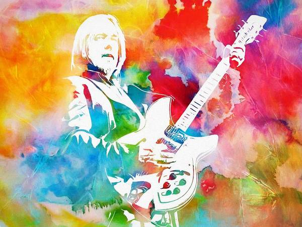 Wall Art - Painting - Colorful Tom Petty by Dan Sproul