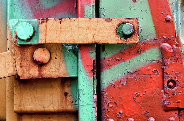 Wall Art - Photograph - Colorful Train Details by Carol Leigh
