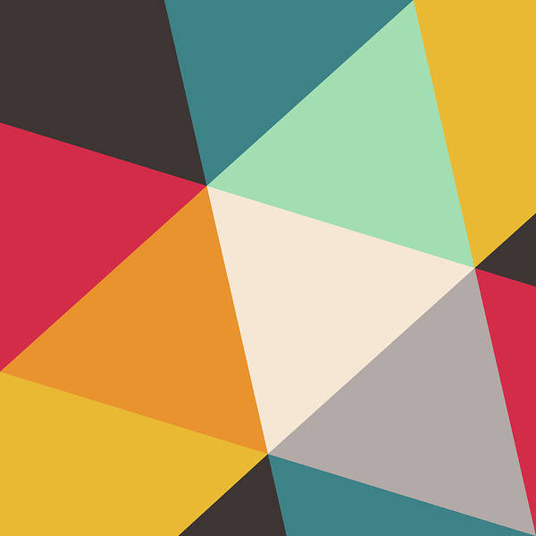 Wall Art - Digital Art - Colorful Triangles by Gary Andrew Clarke