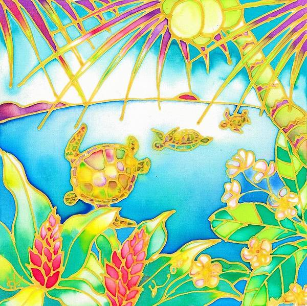 Painting - Colorful Tropics 7 by Hisayo Ohta