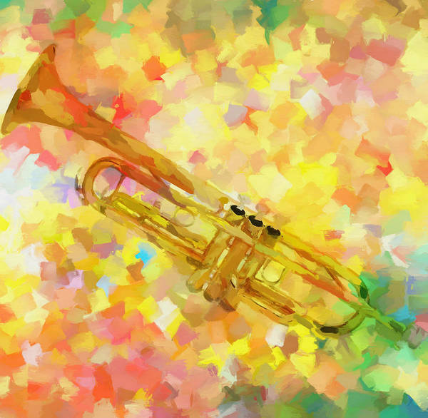 Painting - Colorful Trumpet  by Dan Sproul
