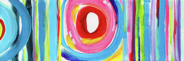 Circle Painting - Colorful Uprising 6- Art By Linda Woods by Linda Woods
