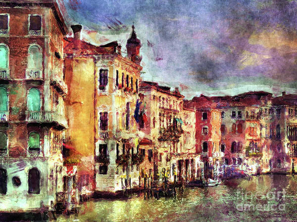 Colorful Venice Canal Art Print
