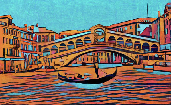 European Vacation Mixed Media - Colorful Venice by Dan Sproul
