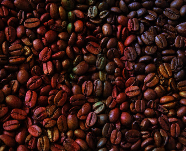 Fresh Mixed Media - Colorful Vibrant Coffee Beans by Design Turnpike