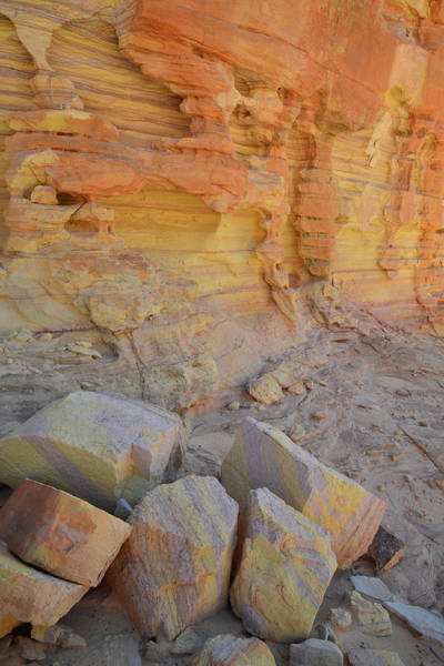 Photograph - Colorful Walls And Boulders Of Wash 3 In Valley Of Fire by Ray Mathis