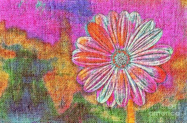 Art Print featuring the painting Colorful Watercolor Flower by Lita Kelley