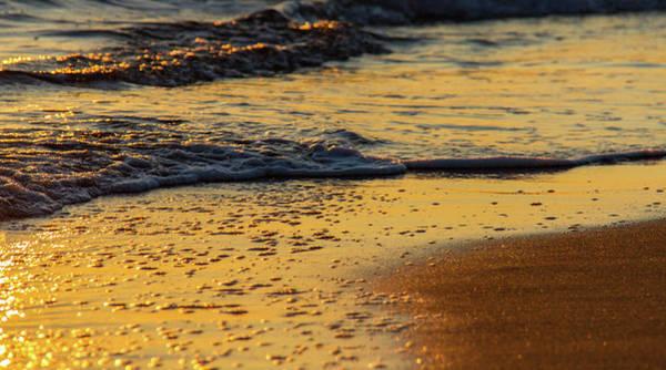 Nature Wall Art - Photograph - Colorful Waves On Sandy Shore by Iordanis Pallikaras
