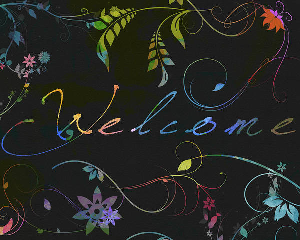 Mixed Media - Colorful Welcome Floral by Dan Sproul