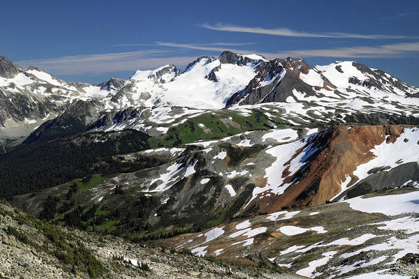 Whistler Photograph - Colorful Whistler Mountain Summit Scenery by Pierre Leclerc Photography