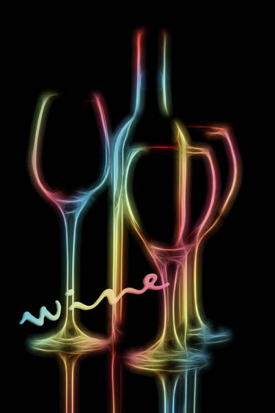 Wineglass Wall Art - Photograph - Colorful Wine by Tom Mc Nemar