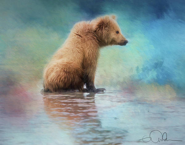Digital Art - Colorfull Bear by Gloria Anderson