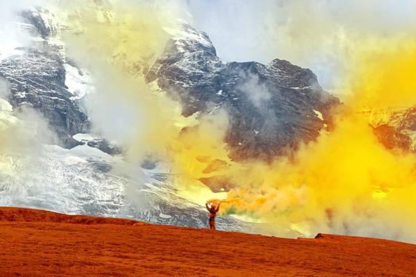 Wall Art - Digital Art - Coloring Mountains by Foka Foka