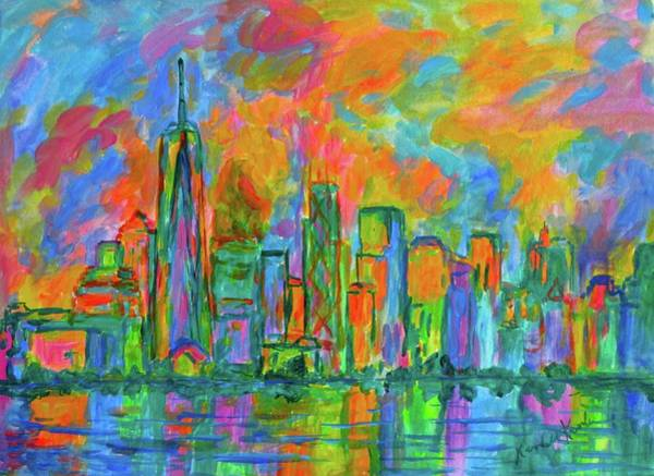 Painting - Coloring The Big Apple by Kendall Kessler