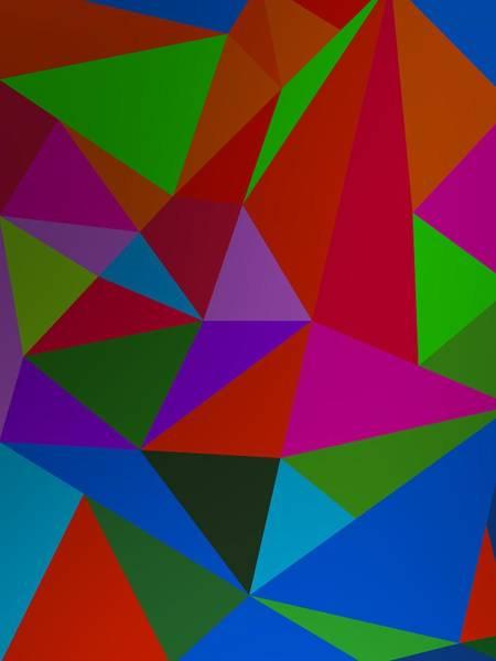 Digital Art - Colorist Composition With Triangles by Alberto RuiZ
