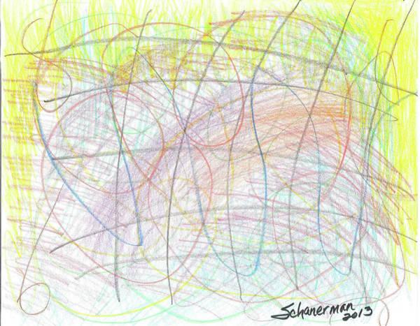 Drawing - Colors At Play 2013 by Susan Schanerman