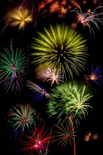 Fireworks Display Wall Art - Photograph - Colors Exploding Over Heard by Garry Gay