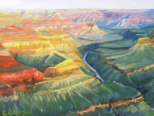 Grand Mesa Painting - Colors In The Canyon by Sue Birkenshaw