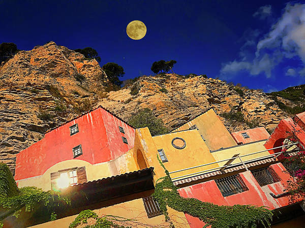 Photograph - Colors Of Liguria Houses - Facciate Case Colori Di Liguria 3 by Enrico Pelos