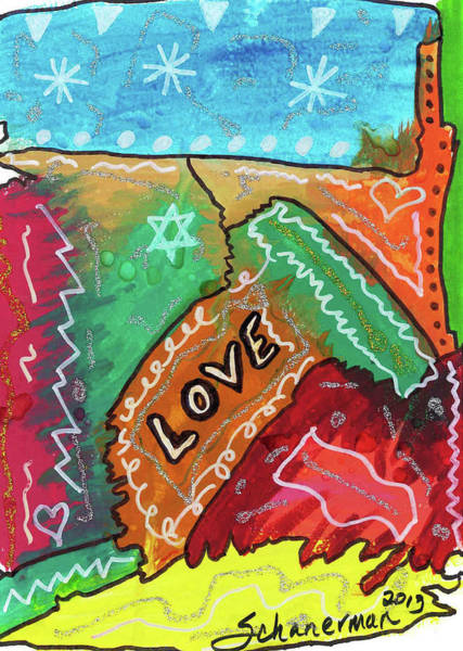 Painting - Colors Of Love by Susan Schanerman
