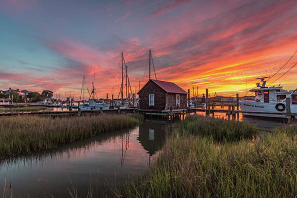 Photograph - Colors Of Shem Creek - Mt. Pleasant Sc by Donnie Whitaker