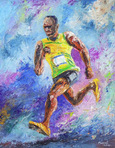 Skipping Painting - Colors Of Speed by Anthony Mwangi