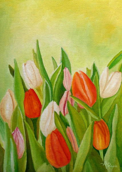 Painting - Colors Of Spring by Angeles M Pomata