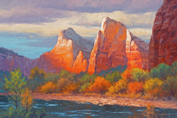 Zion Painting - Colors Of The Court by Cody DeLong
