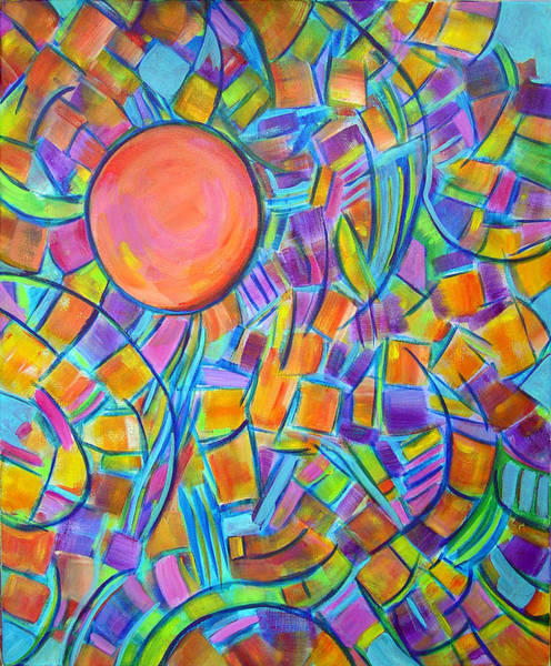 Constructivism Painting - Colors Of The Sun by Lynda Lehmann