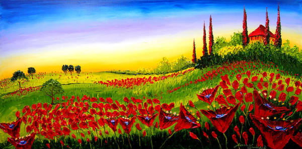 Wall Art - Painting - Colors Of Tuscany #4 by Dunbar's Modern Art