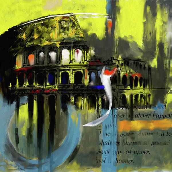 Amphitheater Wall Art - Painting - Colosseum 432 1 by Mawra Tahreem